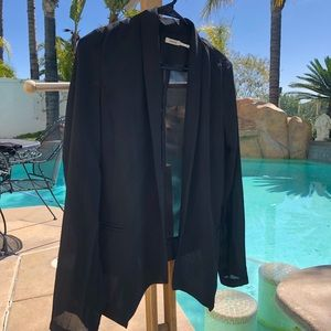 Poetry Jackets & Coats - Black Sheer Blazer